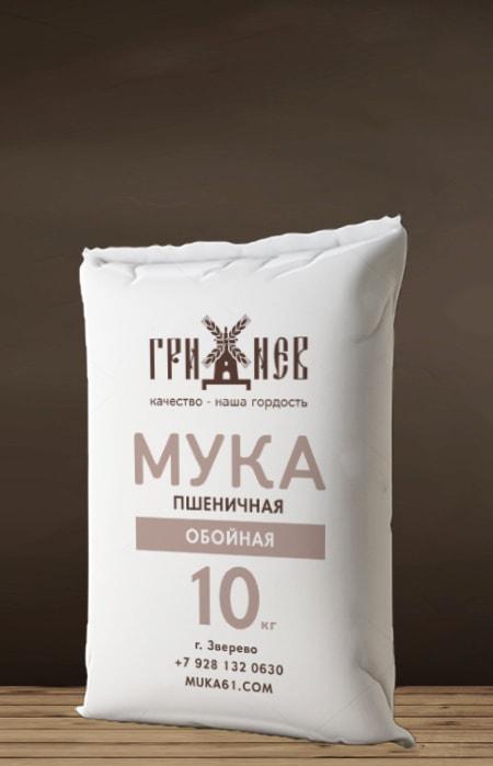Мука обойная пшеничная 10 кг Гриднев