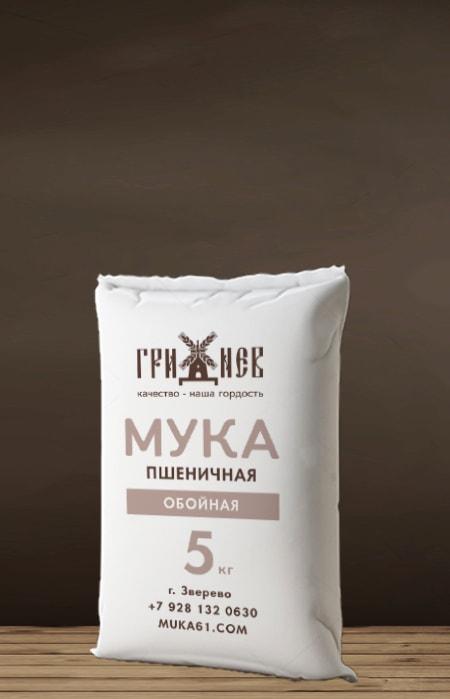 Мука обойная пшеничная 5 кг Гриднев