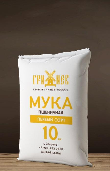 Мука пшеничная первый сорт 10 кг Гриднев